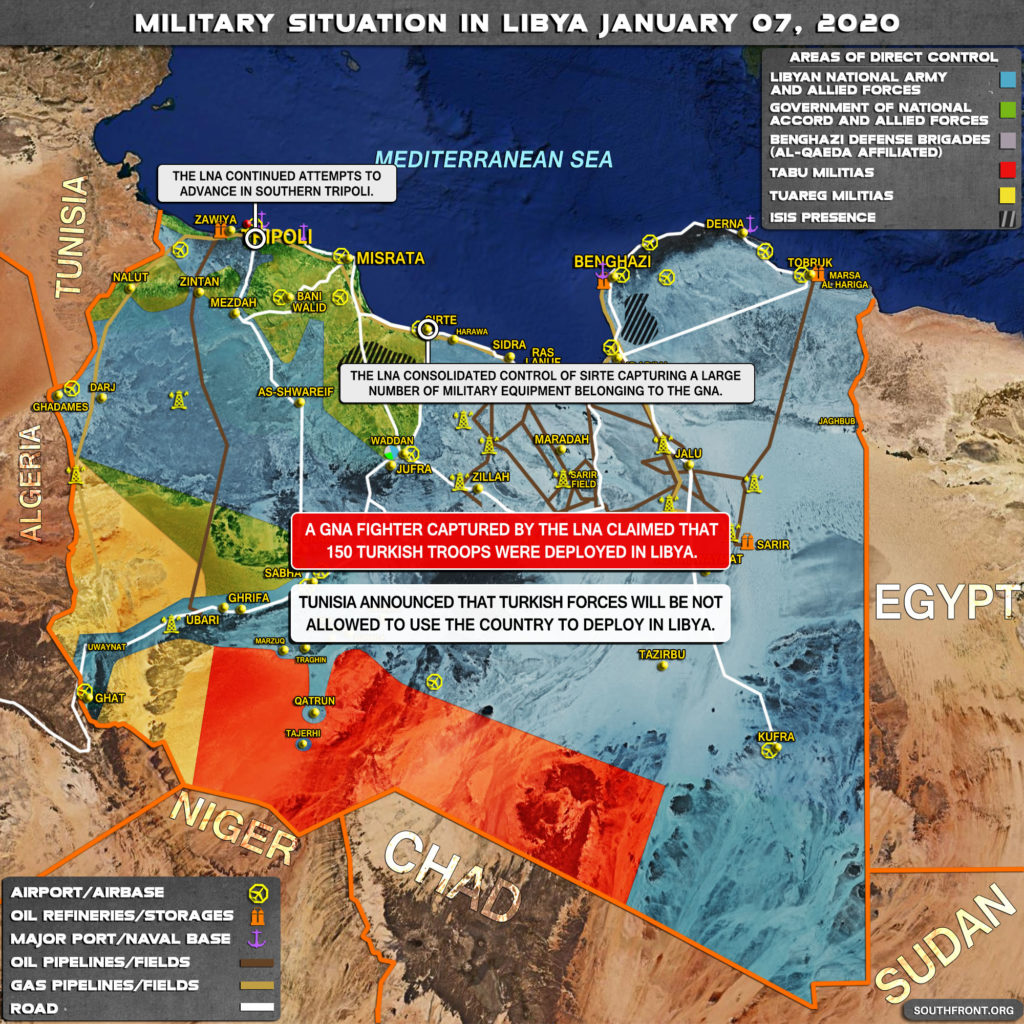 Military Situation In Libya On January 7, 2019 (Map Update)
