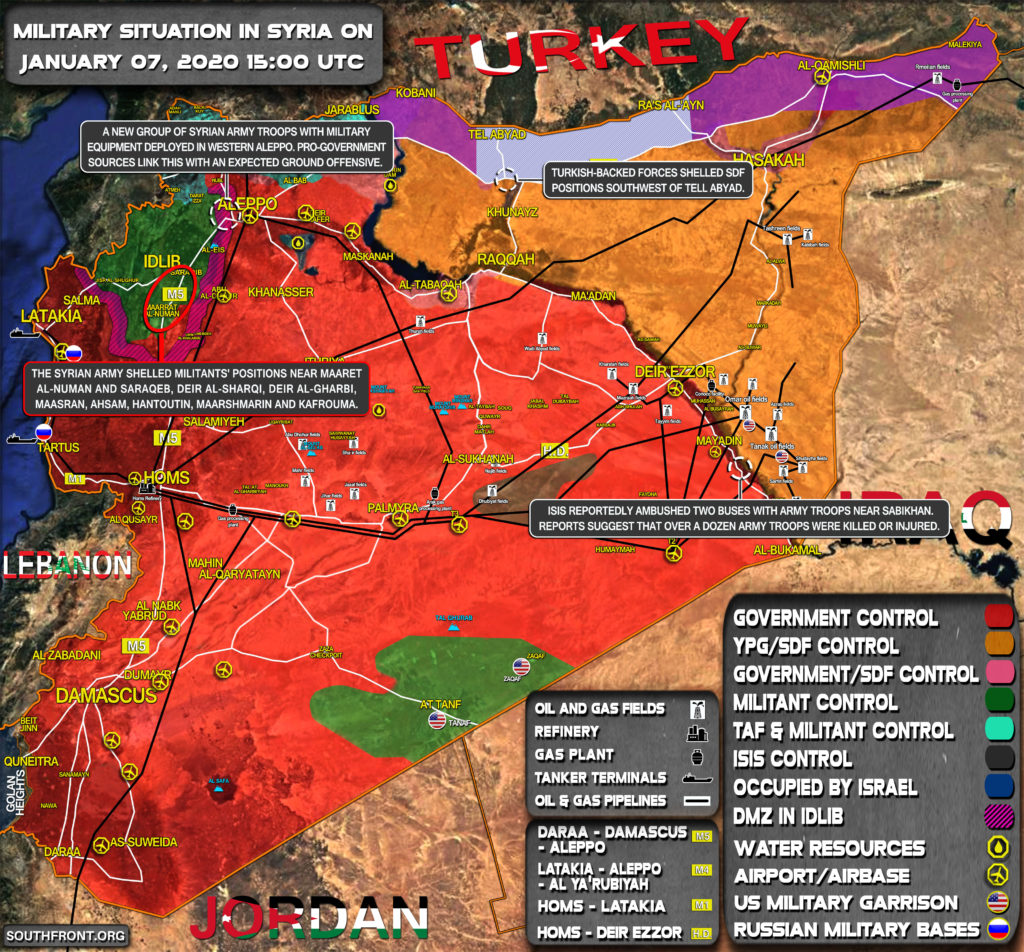 Military Situation In Syria On January 7, 2020 (Map Update)