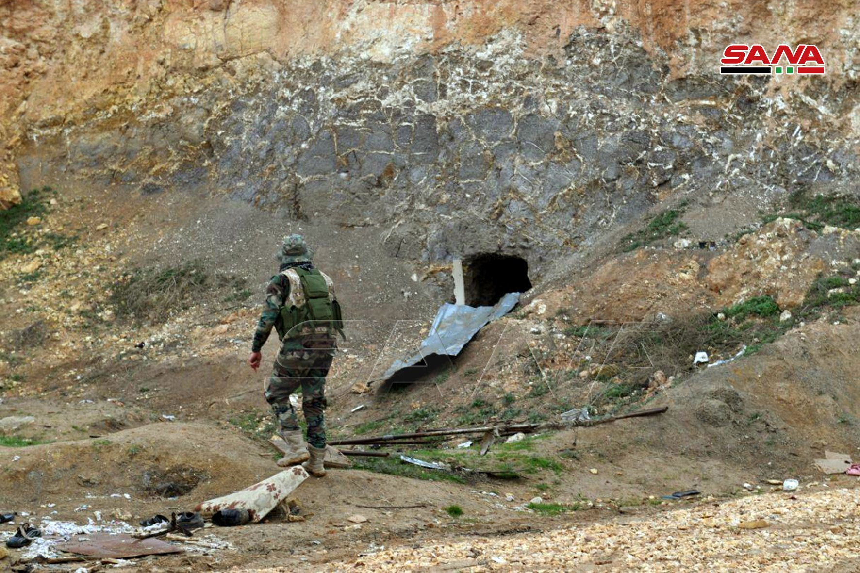 Syrian Army Uncovers Militants' Caves In Southwest Aleppo (Photos)