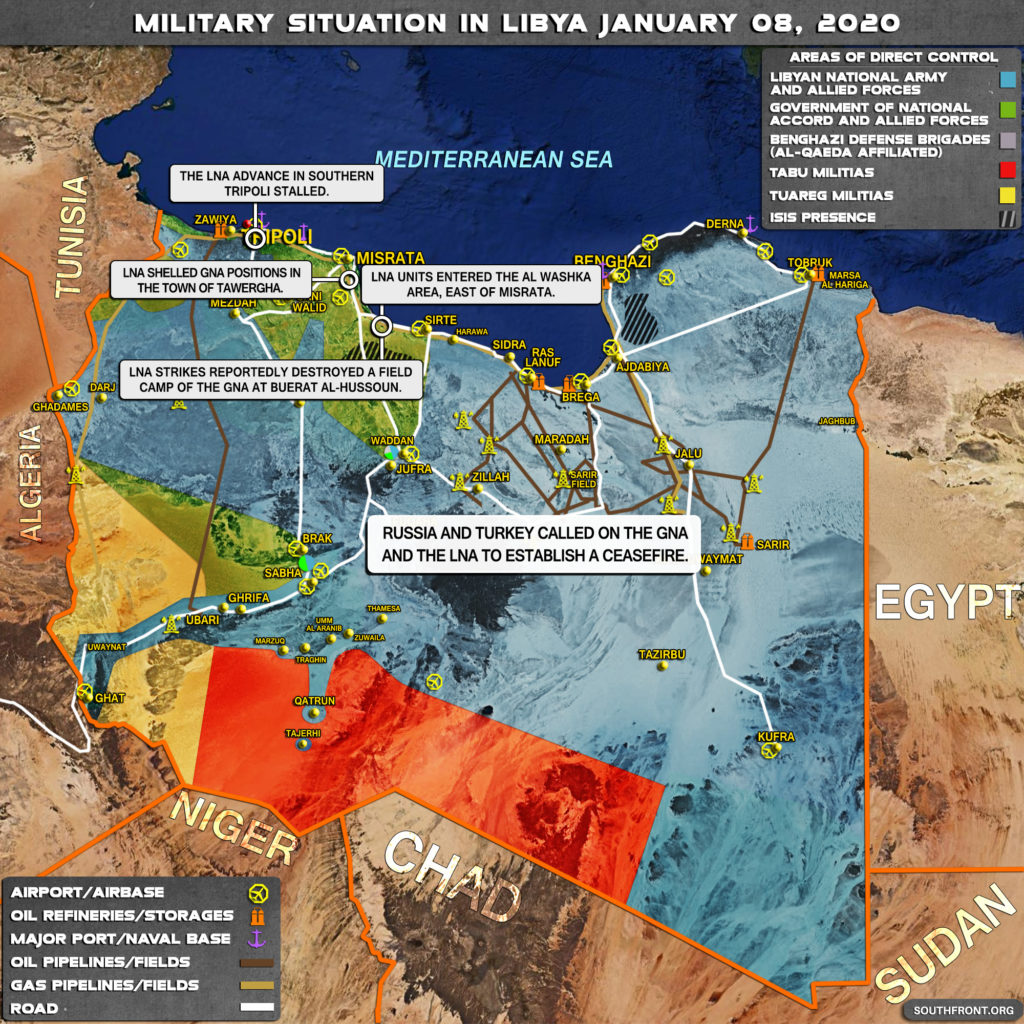 Military Situation In Libya On January 8, 2020 (Map Update)