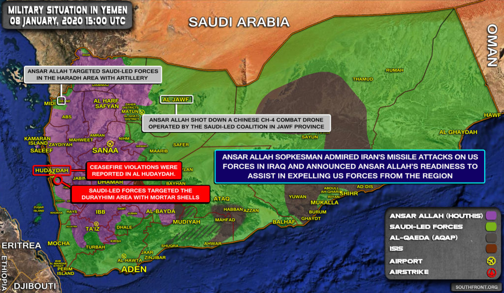 Military Situation In Yemen On January 8, 2020 (Map Update)