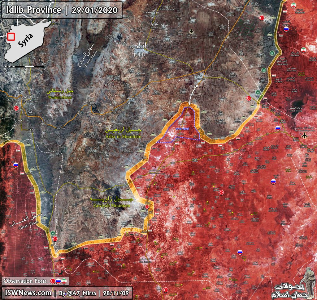 Military Situation In Southern Idlib Following Syrian Army's Advance North Of Maarat al-Numan (Map Update)