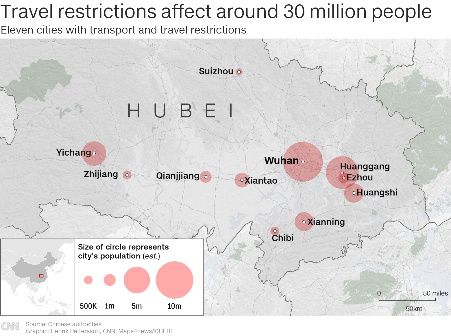 Transport Restricted in 11 Chinese Cities. Officers in Hazmat Suits with Automatic Rifles Deployed