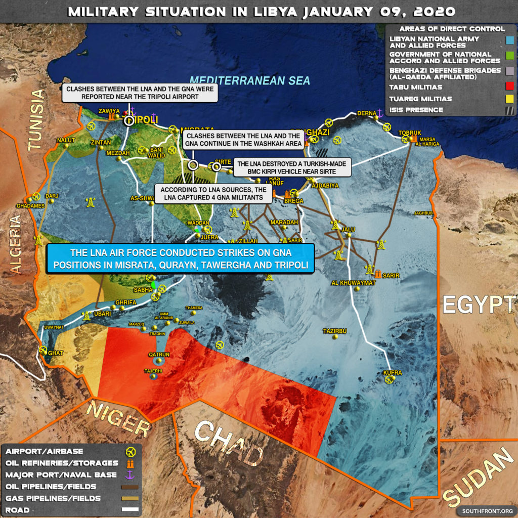 Military Situation In Libya On January 9, 2020 (Map Update)