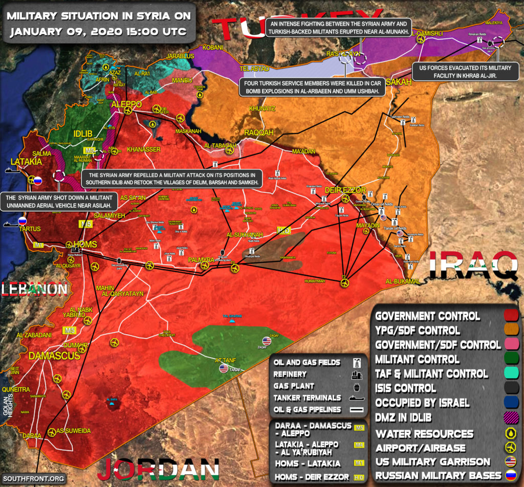 Military Situation In Syria On January 9, 2020 (Map Update)