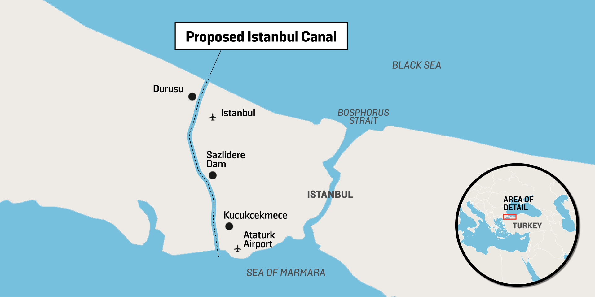 Turkey Moving Closer to Starting Work on Its Canal Istanbul Megaproject
