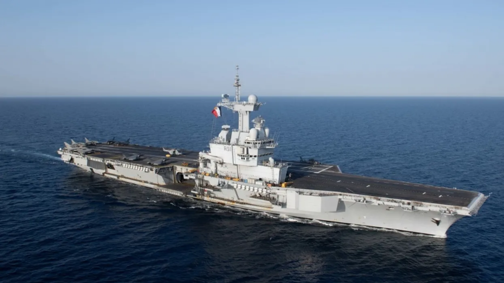 "France Deploys Its Sole Aircraft Carrier The ""Charles de Gaulle"" to the Middle East"