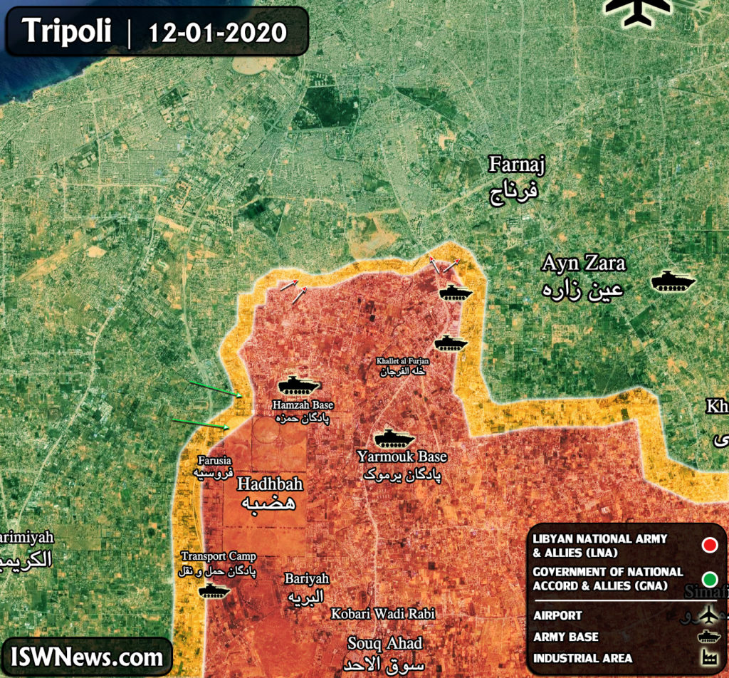 Map Update: Military Situation In Libya's Tripoli After Ceasefire Announcement
