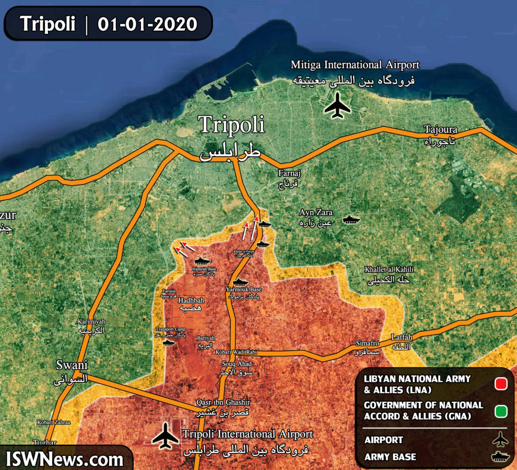 Map Update: Libyan National Army's Advance On GNA Positions South Of Tripoli
