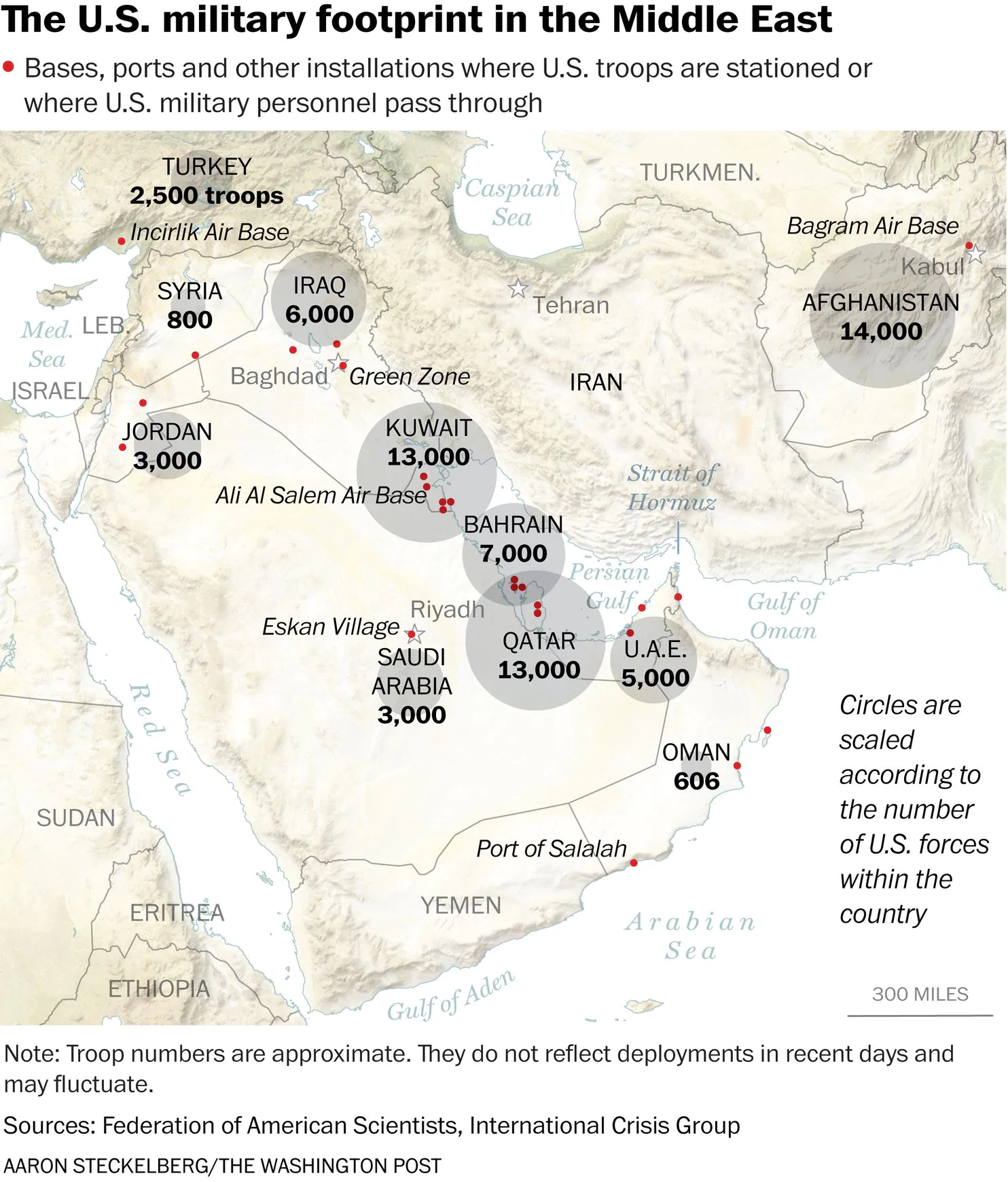 How Many Forces Does United States Have In Middle East To Strike Iran?