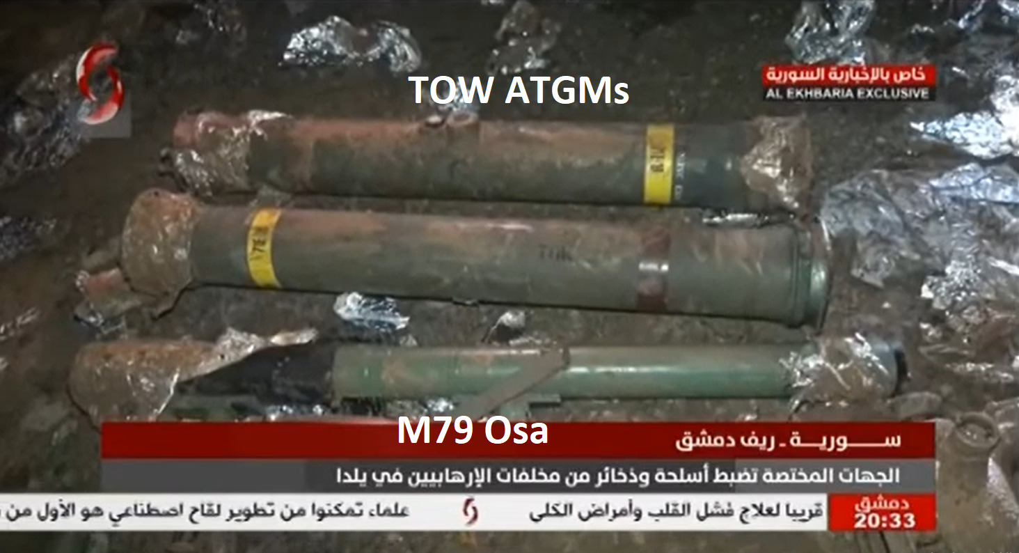Syrian Army Uncovers TOW Missiles, Other Weapons In Damascus' Eastern Ghouta (Video)