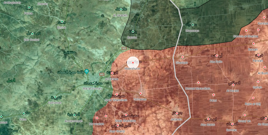 Sýrska Armáda sa Uvoľňuje Iného Mesta v Blízkosti Ma'arat al-Nu'man, Údajne Bloky M5 Diaľnici
