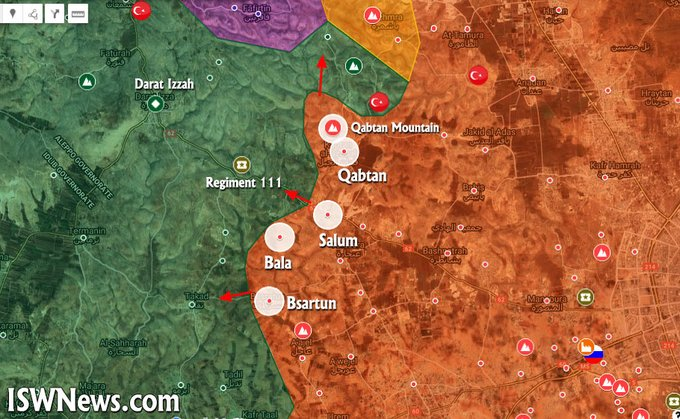 Government Forces Move Closer To Militant Stronghold Of Darat Izza In Syria's Aleppo (Map Update)