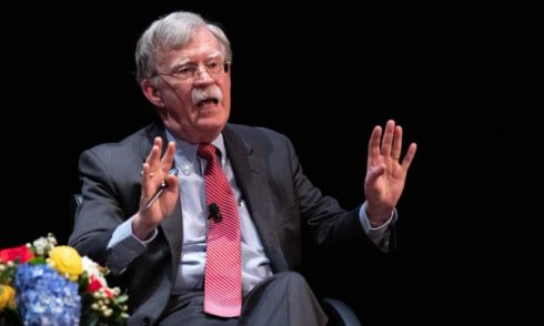 """""""Doomed To Failure"""": Bolton Excoriates Trump On Iran, N.Korea In First Post-Impeachment Appearance"""