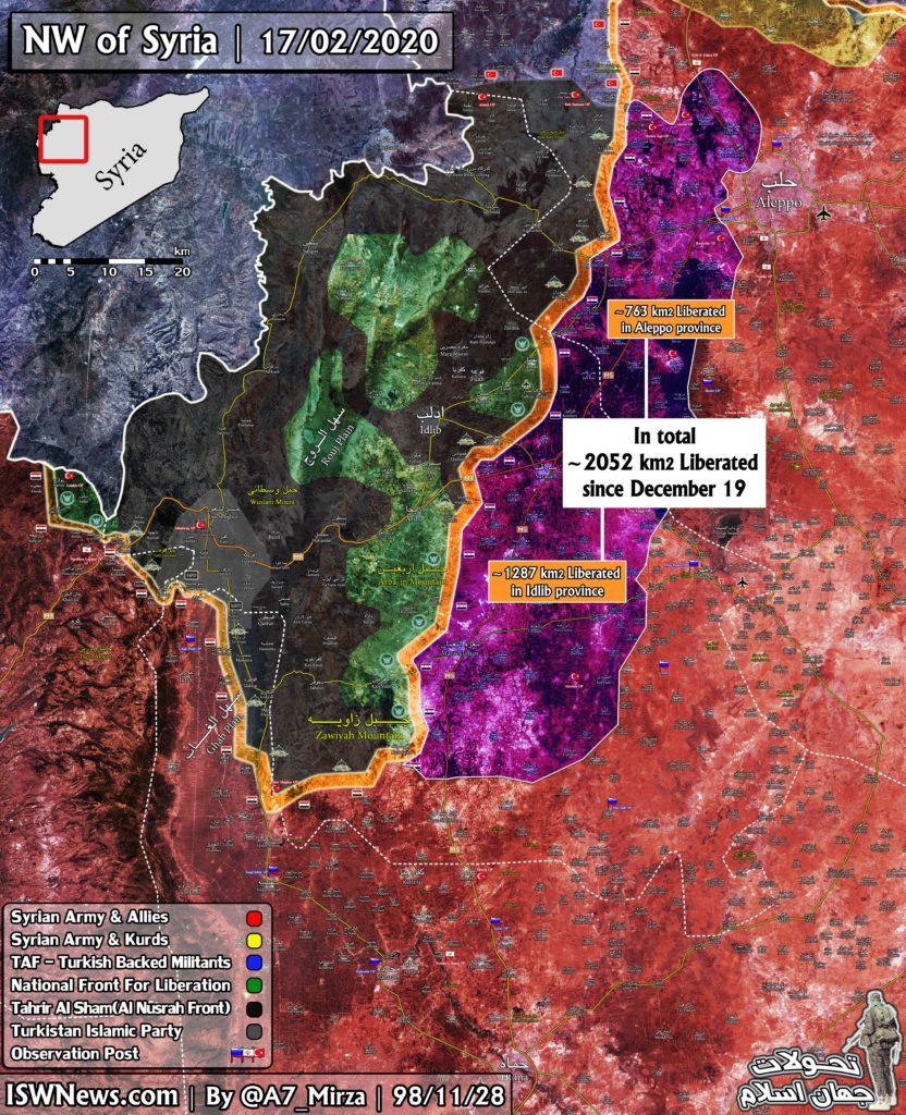 Sýrske Vojská Oslobodili Vyše 2 000 km Vo Väčšom Idlib Od 19 decembra 2019 (Aktualizácia Máp)