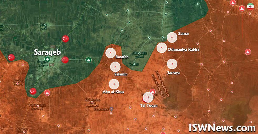 Syrian Army Liberated Resafah And Advances Further To Encircle Saraqib