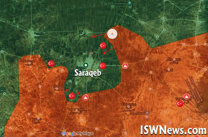 Syrian Army Cuts Off M5 Highway North Of Saraqib