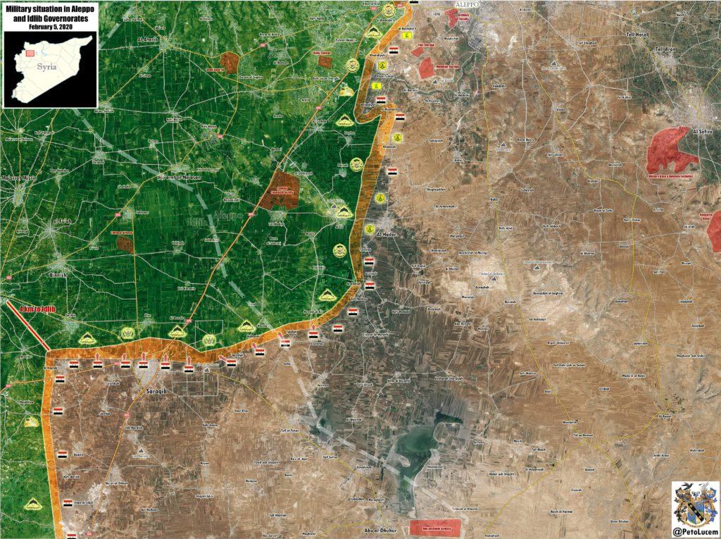 Syrian Army Cuts Off M5 Highway North Of Saraqib