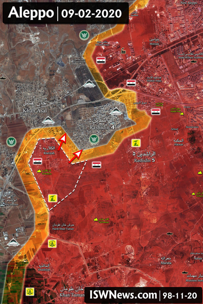 Syrian Army Is Clashing With Militants In Aleppo's Rashidin 4 (Map Update)