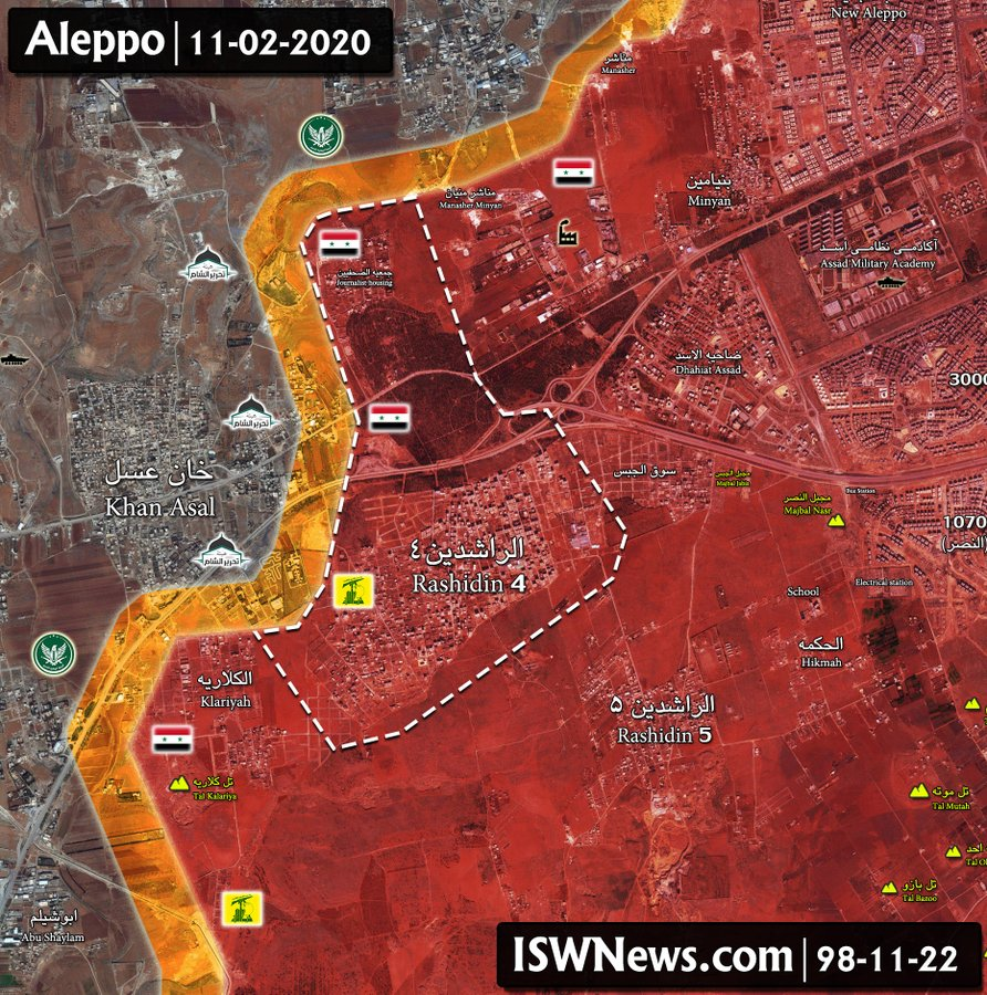 Syrian Government Forces Took Full Control Of Rashidin 4 In Western Aleppo (Map Update)