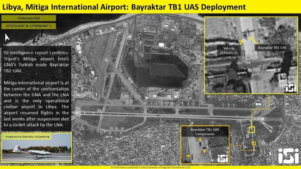 Satellite Image: Turkish UAVs Deployed At Mitiga International Airport, Tripoli