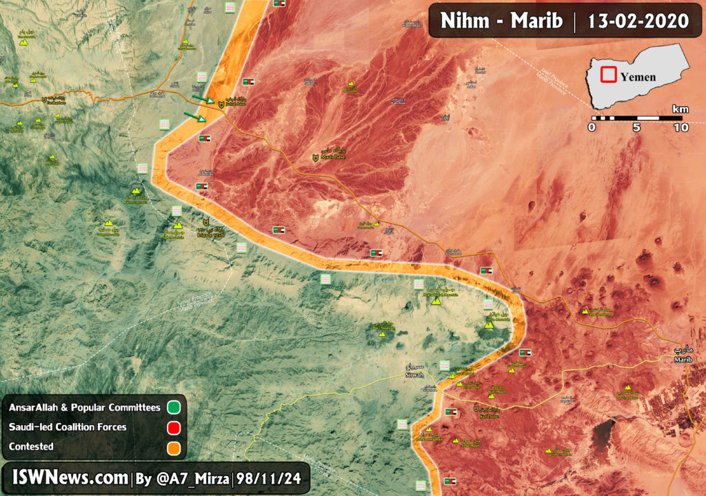 Ansar Allah Advancing On Positions Of Saudi-led Forces In Yemen's Ma'rib Province (Map Update)