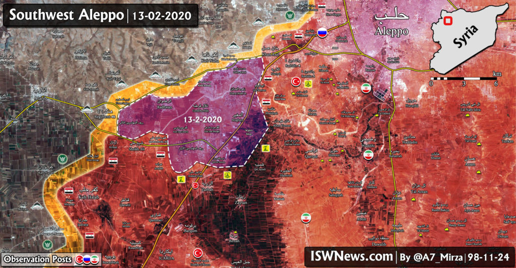 Syrian Army's Gains In Southwestern Aleppo Open Road On Atarib (Map Update)