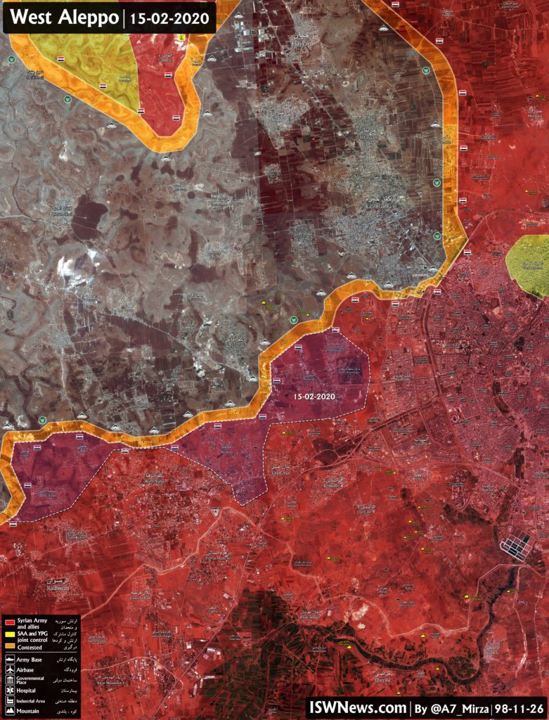 Military Situation In Western Aleppo Following Recent Advance By Syrian Army (Map Update)
