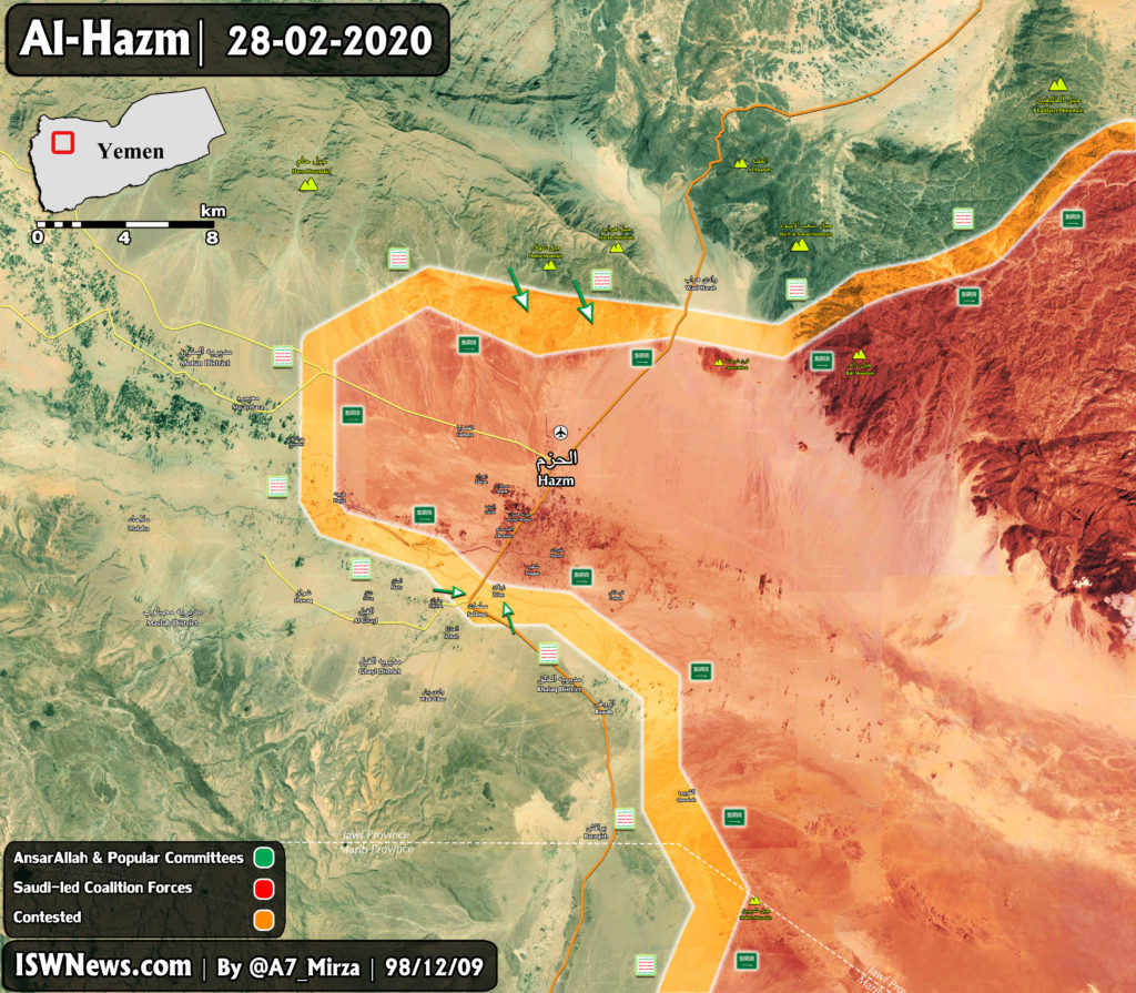 Yemeni Forces Are Encircling Al-Hazm City In Jawf Province (Map Update)