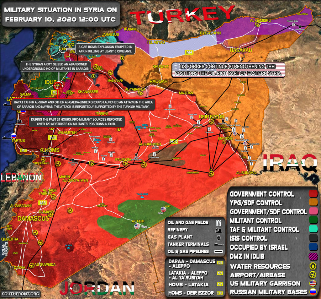 Military Situation In Syria On February 10, 2020 (Map Update)