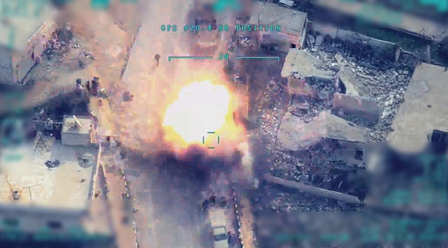 Turkey Releases Footage of Strikes on Syrian Troops In Idlib