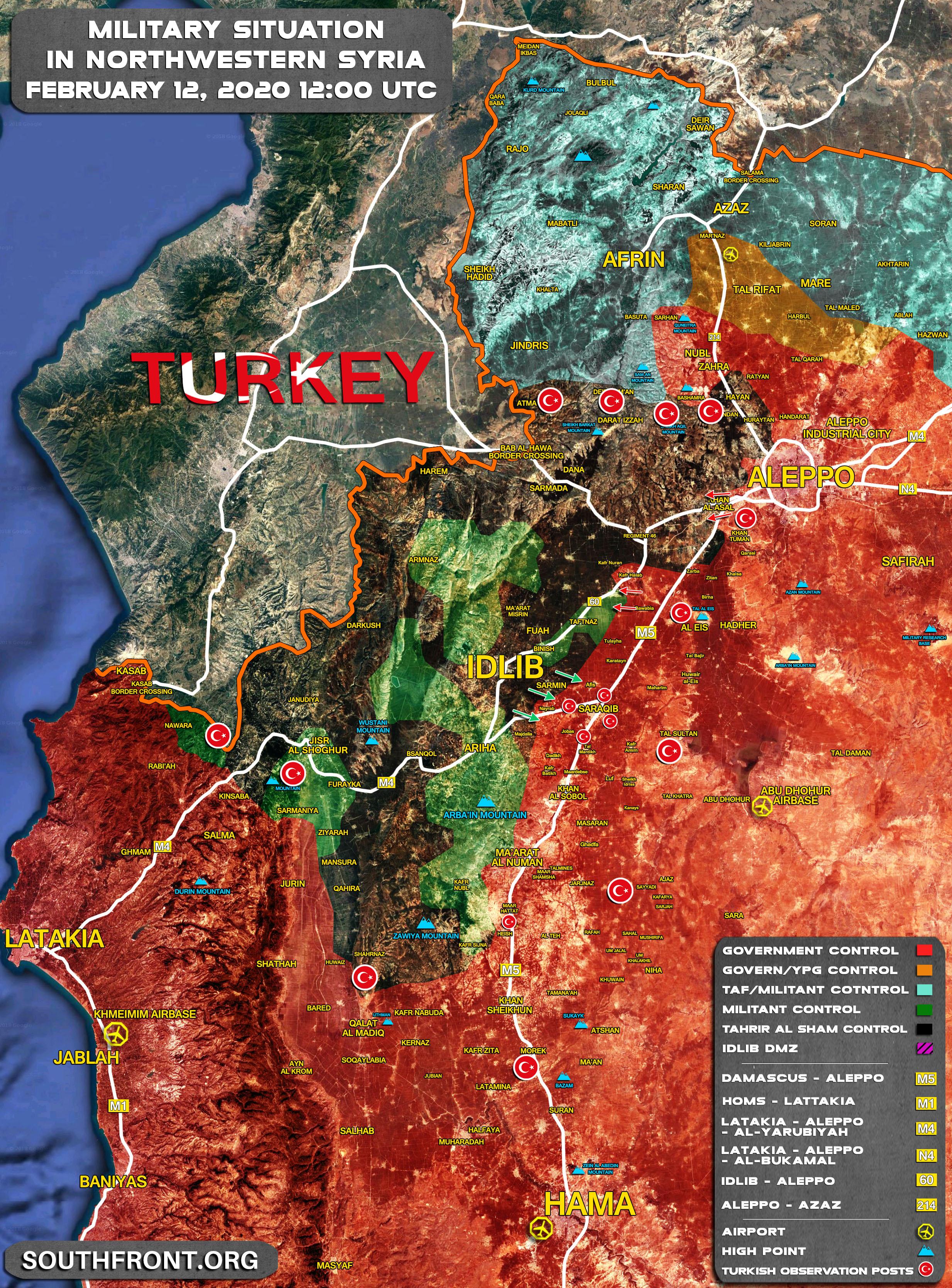 Syrian War: News #20 - Page 29 12feb_NorthWest_Syria_Map
