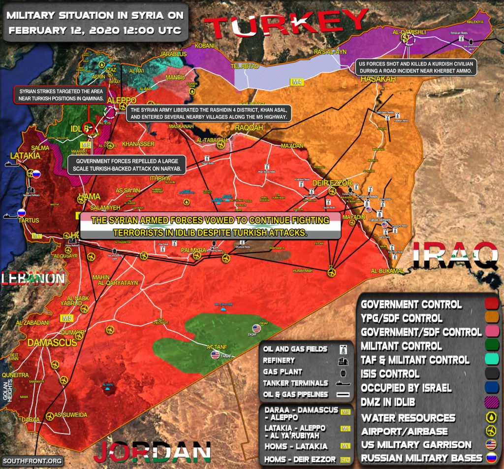 Military Situation In Syria On February 12, 2020 (Map Update)