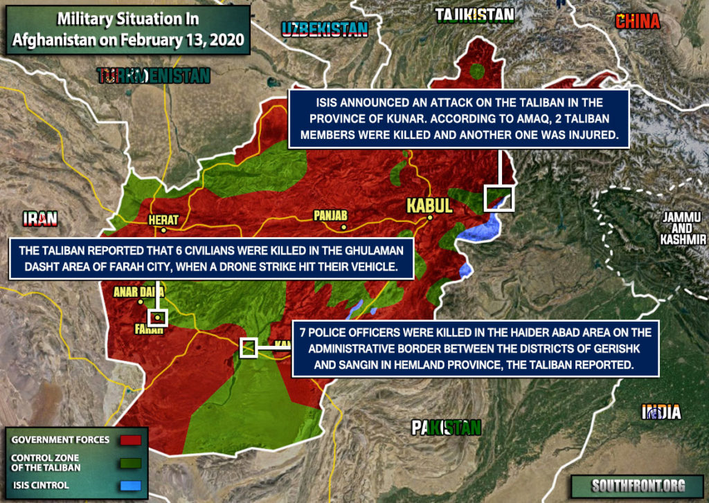 Military Situation In Afghanistan On February 13, 2020 (Map Update)