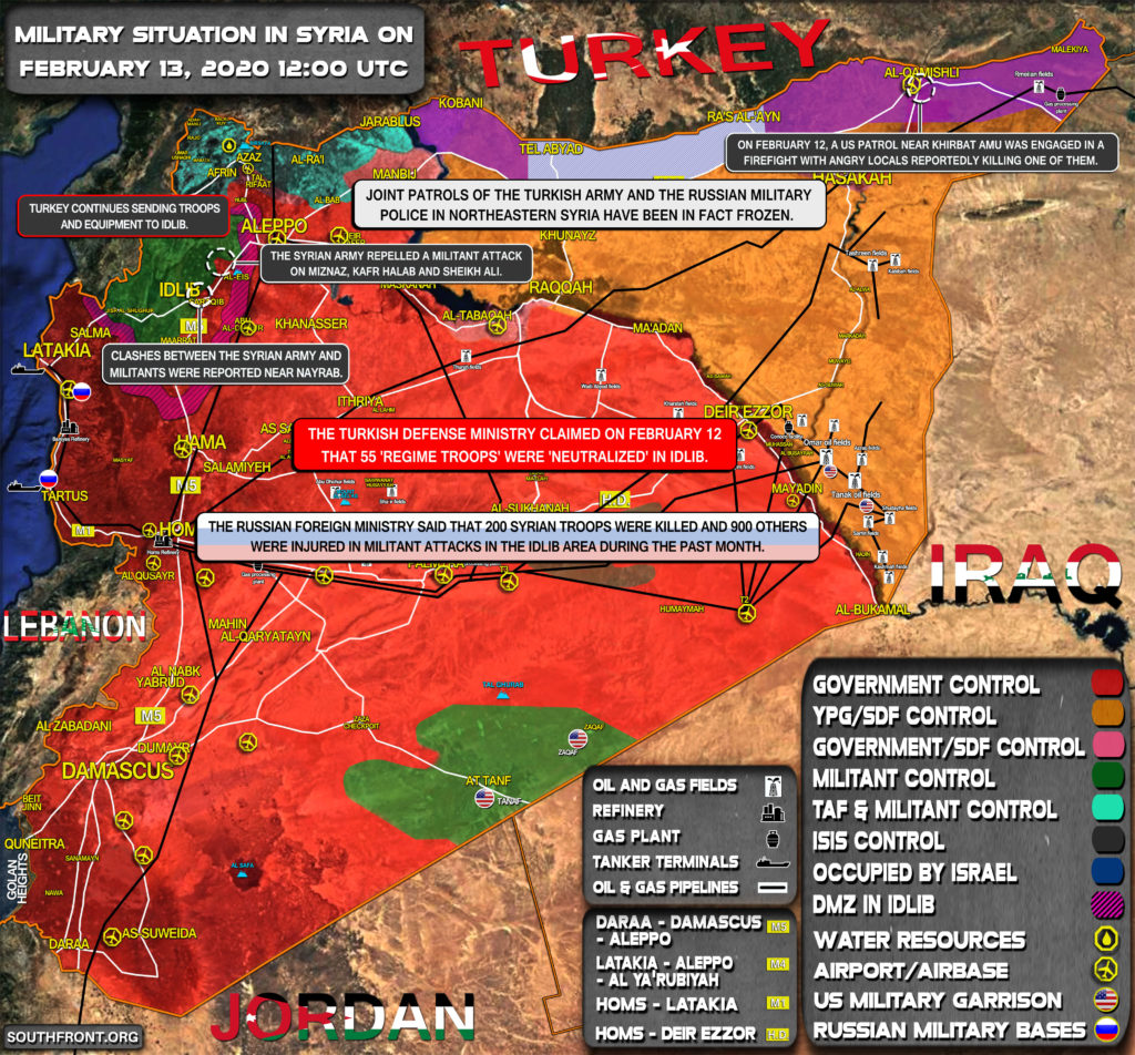 Military Situation In Syria On February 13, 2020 (Map Update)
