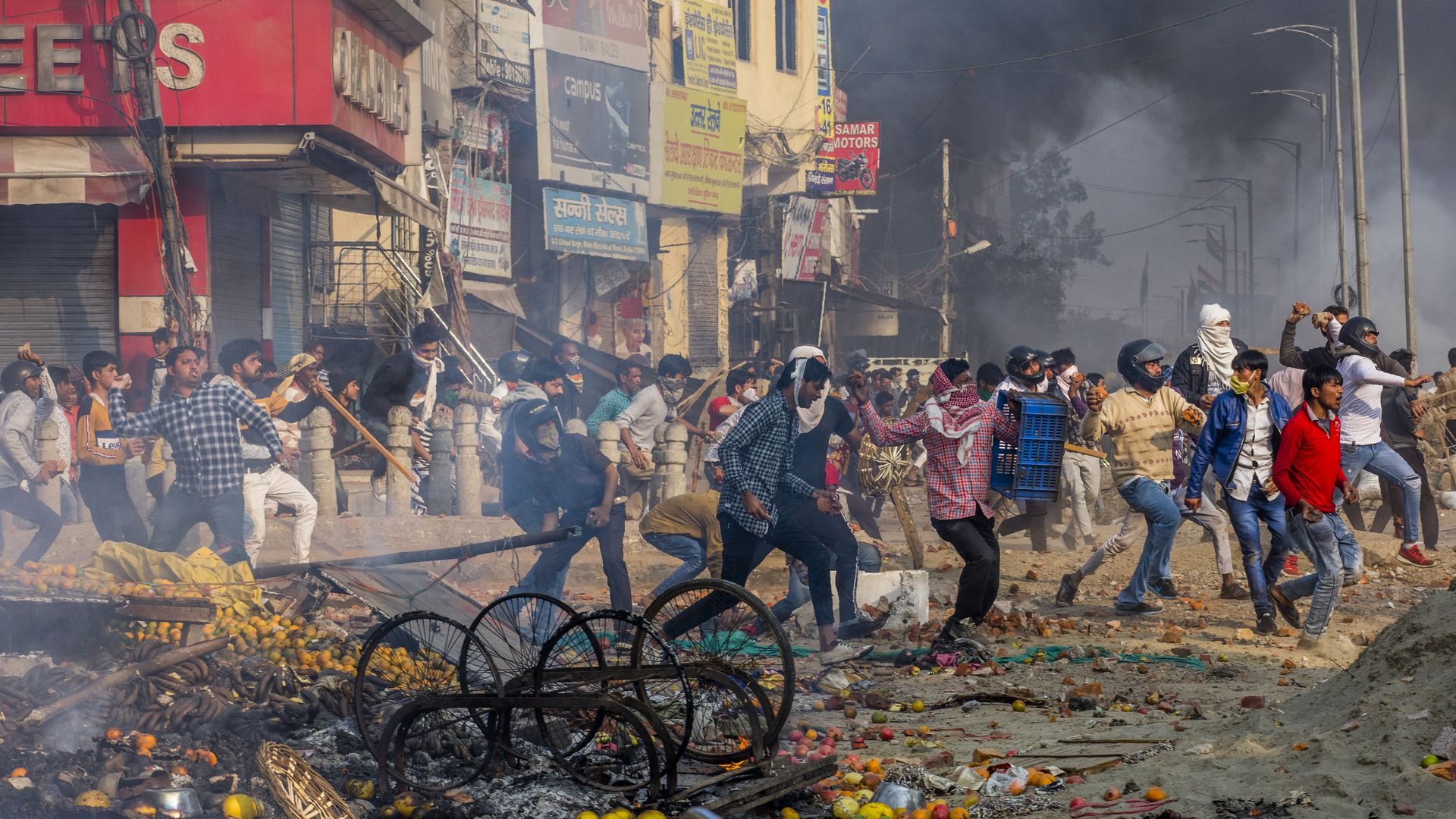 "Violent Riots In India, As Trump Praises ""Biggest Democracy In The World"" And $3Bn Helicopter Deal"