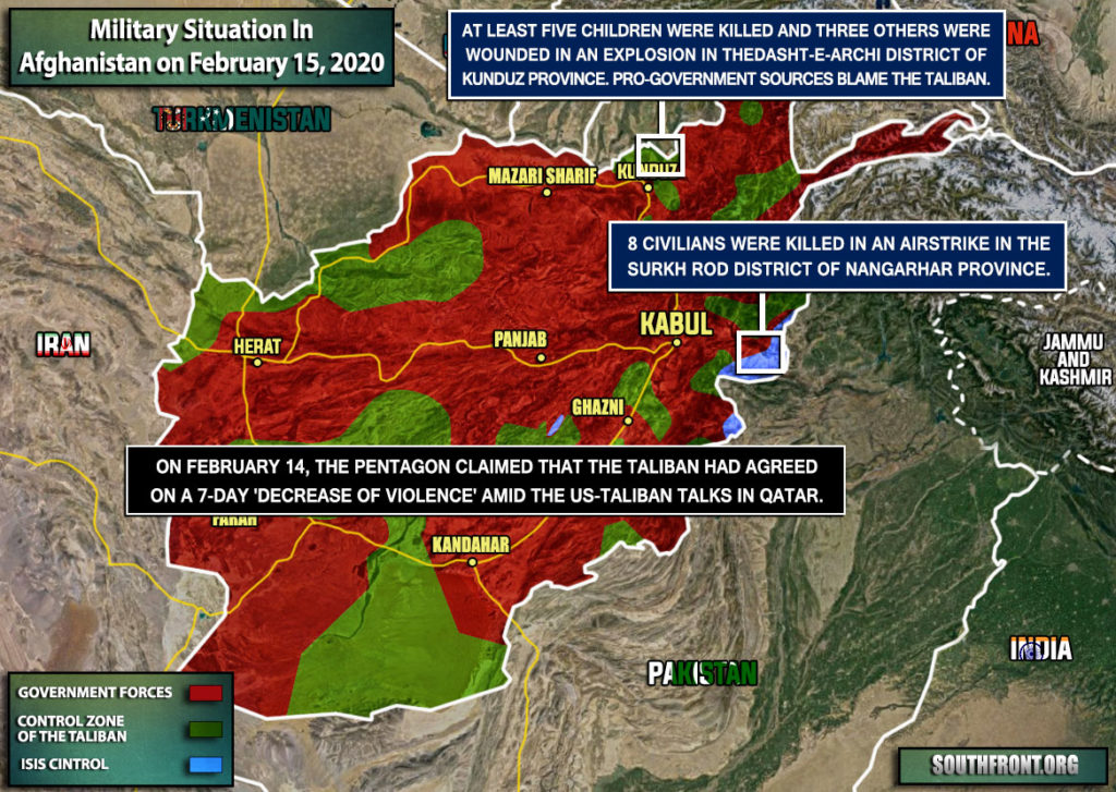 Military Situation In Afghanistan On February 15, 2020 (Map Update)