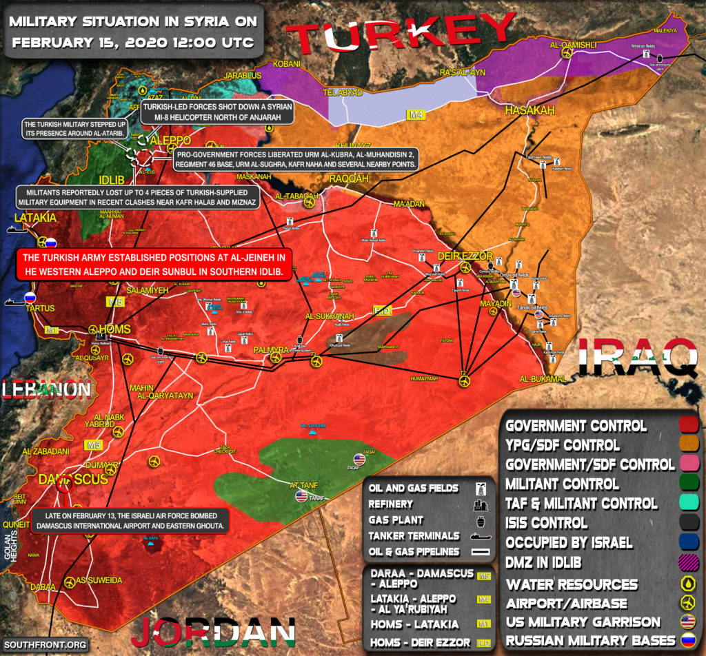 Military Situation In Syria On February 15, 2020 (Map Update)