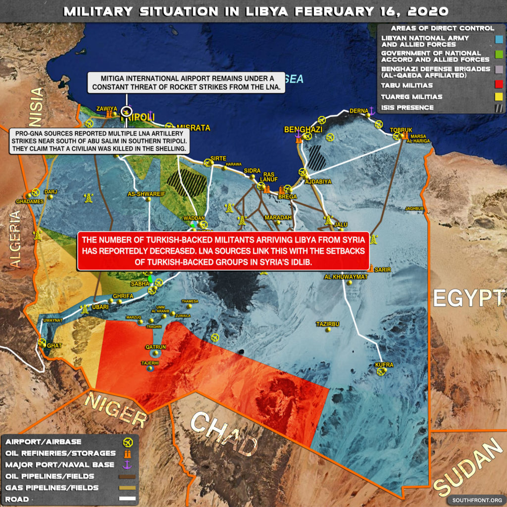 Military Situation In Libya On February 16, 2020 (Map Update)