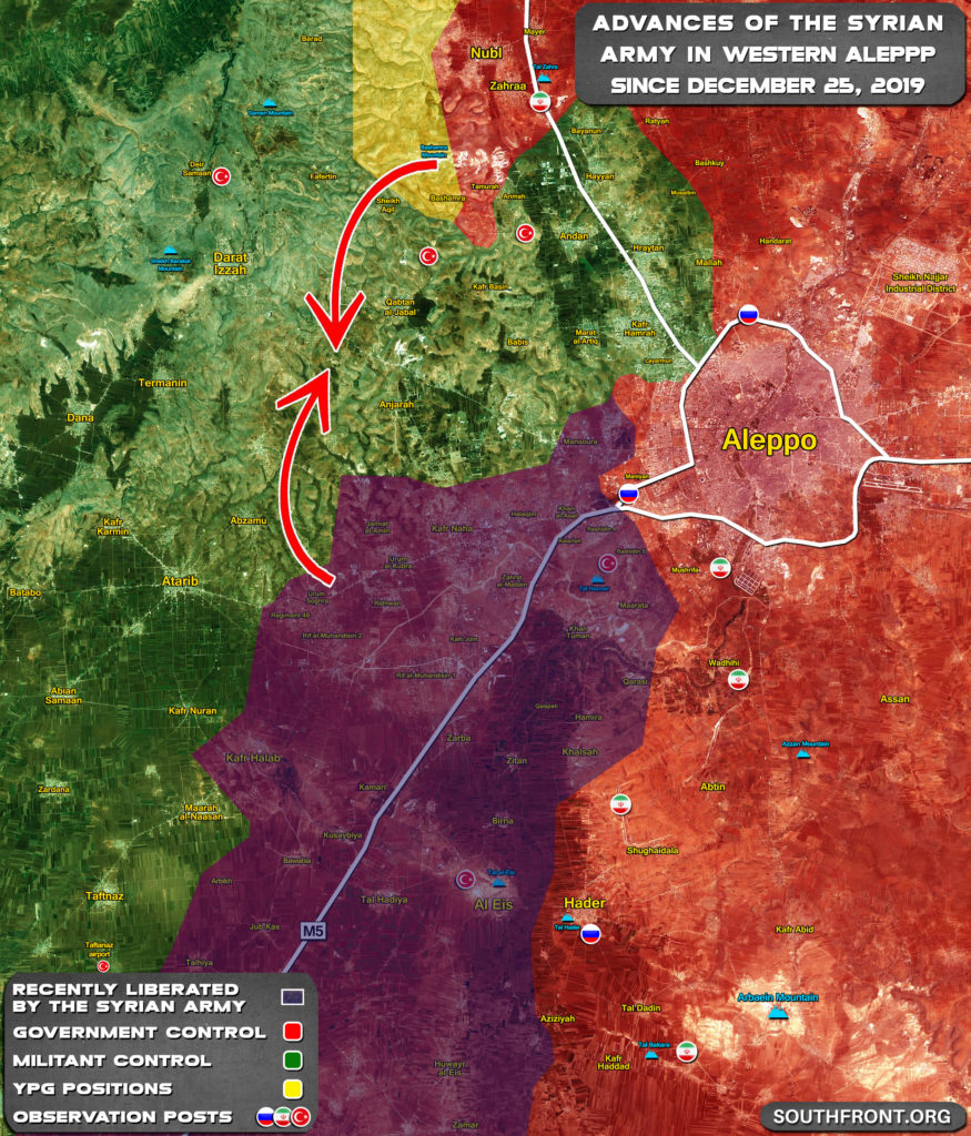 Vládne Vojská Sú Rezanie Militantov' Odpor V Západnej Aleppo Do Vreciek (Mapa)