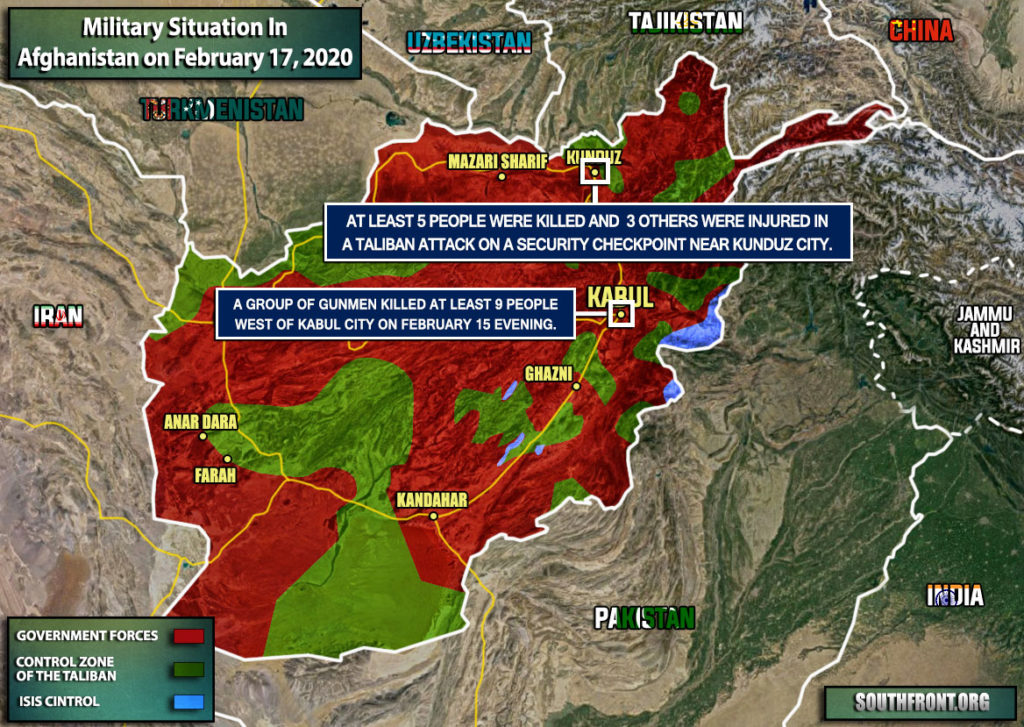 Military Situation In Afghanistan On February 17, 2020 (Map Update)