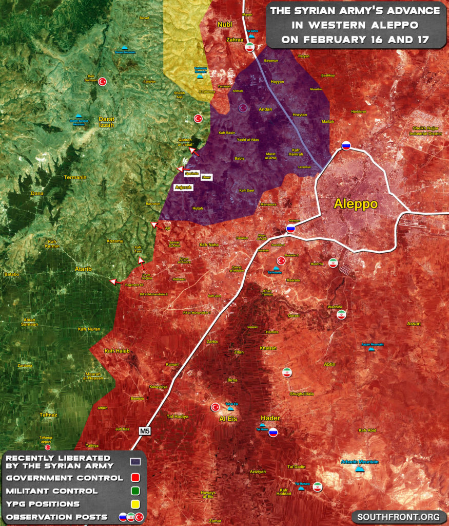 Turkish-backed Forces' Defense Collapses In Western Aleppo Even Further (Map Update)