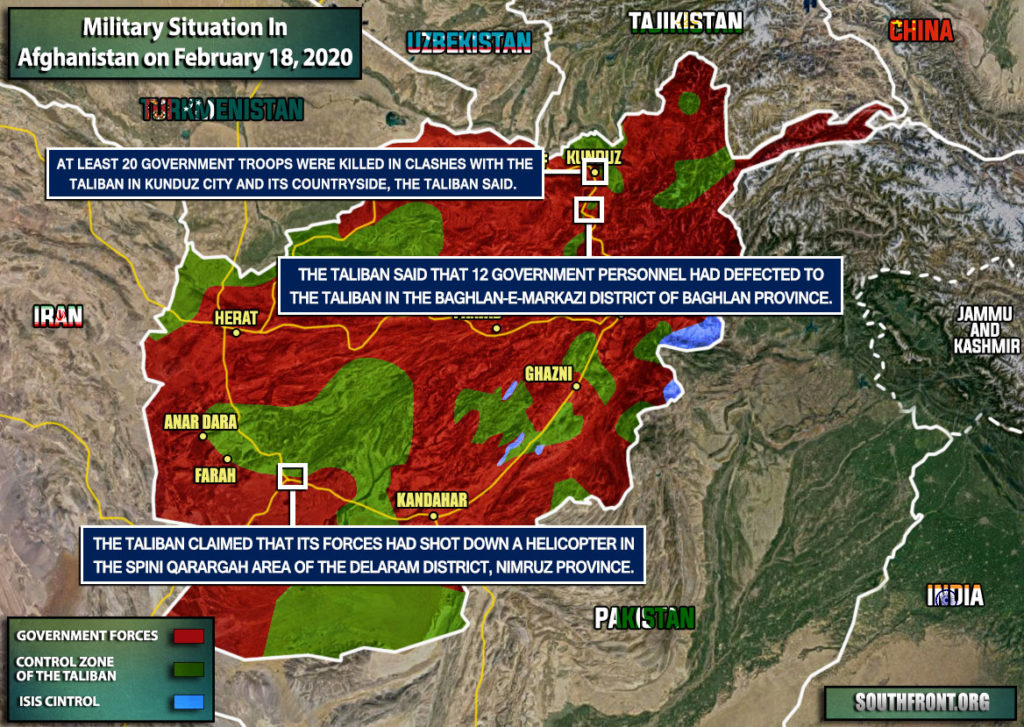 Military Situation In Afghanistan On February 18, 2020 (Map Update)