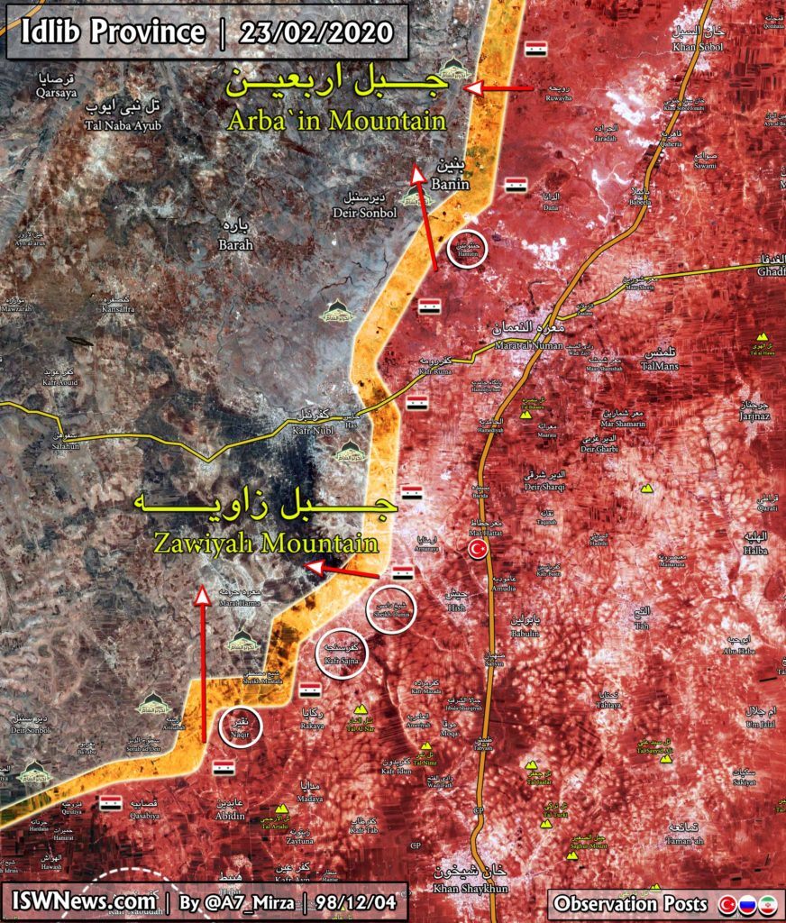 Map Update: Syrian Army's Recent Gains In Southern Idlib