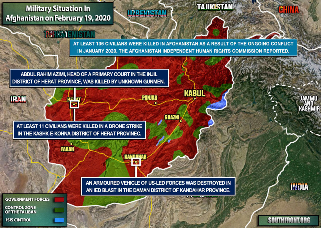 Military Situation In Afghanistan On February 19, 2020 (Map Update)