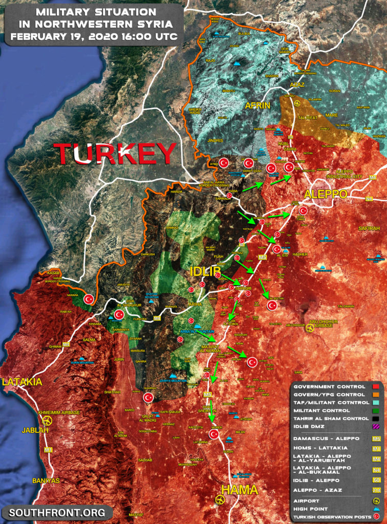 Map Update: Turkish Dreams About Large-Scale Attack On Syrian Army In Greater Idlib