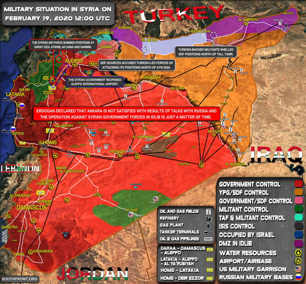 Military Situation In Syria On February 19, 2020 (Map Update)