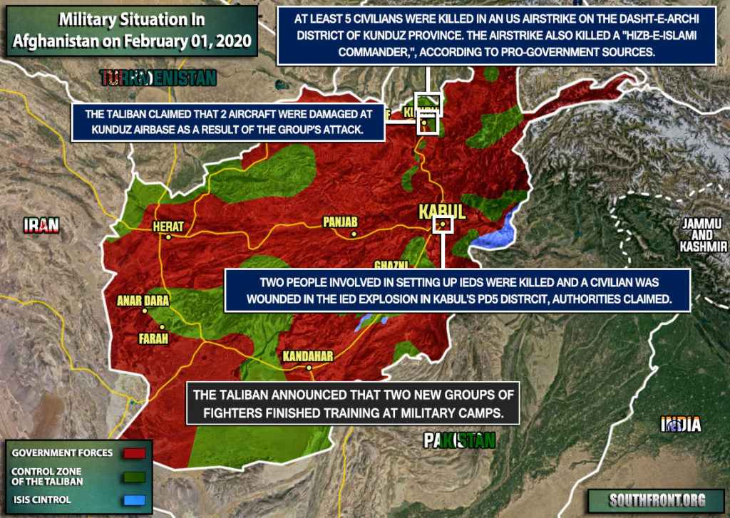 Military Situation In Afghanistan On February 1, 2020 (Map Update)