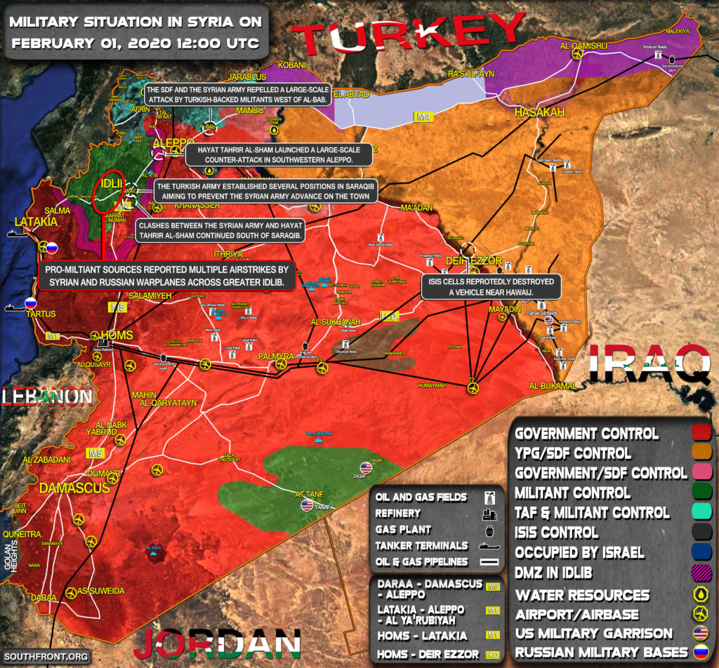 Military Situation In Syria On February 1, 2020 (Map Update)