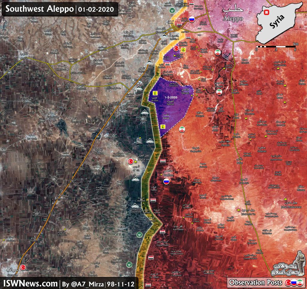 Vojenská Situácia V Sýrii je Západný Aleppo po Nedávnom Strety Medzi Armádou A Militantov (Aktualizácia Máp)
